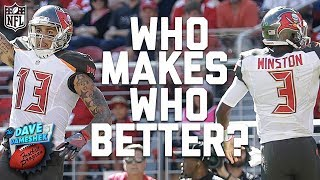Do Wide Receivers Make Quarterbacks Better or is it the Other Way Around? | DDFP | NFL