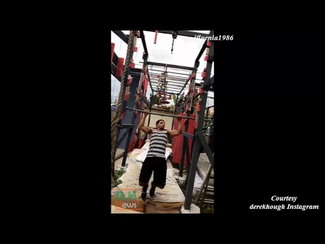 Derek Hough training for America Ninja Warrior Charity episode - March 5, 2017