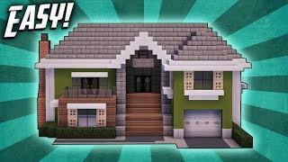 Minecraft: How To Build A Large Suburban House Tutorial (#5)