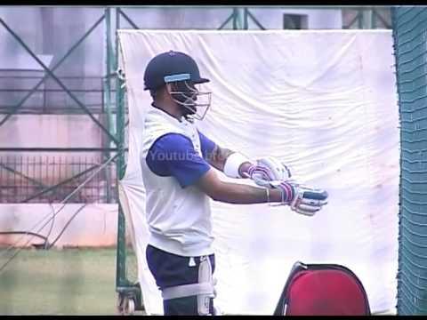 Virat kohli doing net practice
