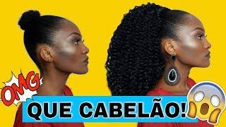 COMO FAZER RABO DE CAVALO COM APLIQUE EM CABELO CURTO