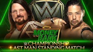 AJ Styles battles Shinsuke Nakamura in a WWE Championship Last Man Standing Match tonight