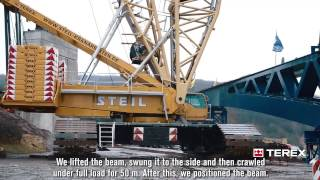 Steil Using its Terex Cranes Superlift 3800 crawler crane for Some Heavy Lifting