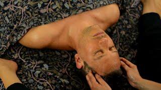 Ayurvedic Yoga Massage, ASMR, Full Body Part 5: Face and Head