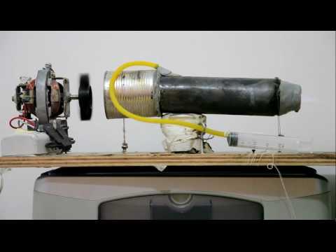 mini turbina caseira Projeto de termojato pulse jet