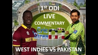 Live: Pakistan Vs West Indies 1st ODI Match with Live Commentary