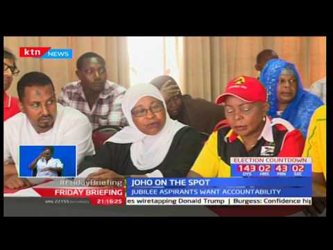 Governor Ali Hassan Joho on the spot over funds accountability from a section of Jubilee aspirants