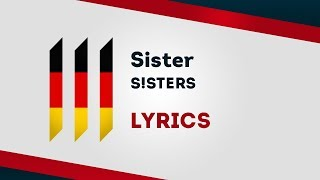 Germany Eurovision 2019: Sister - S!ster [Lyrics] 🇩🇪