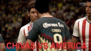 FIFA 18 AMERICA VS CHIVAS SIMULACION PARTIDO COMPLETO
