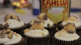 Chocolate Kahlua Honeycomb Cupcakes