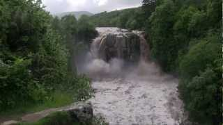 A Rough Edit of River Tees and High Force Waterfall in Flood 28 June 2012