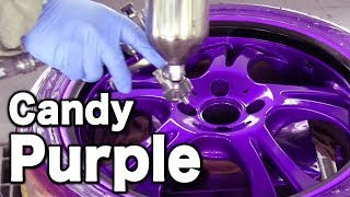 How to paint your car wheels Candy Purple & Black・カスタムペイント キャンディー塗装