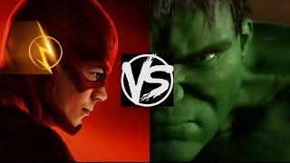 The Flash VS The Incredible Hulk...Who'd Win The Fight? A Flash Versus Hulk Death Battle Fight!
