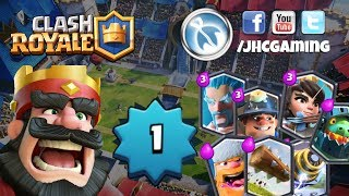 (REPLAY) Level 1 stream, push to Arena 9 again - Clash Royale