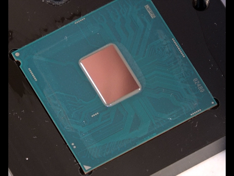 Intel Core i5 7600K Naked Die Installation with Water Block