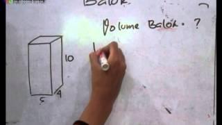 Belajar matematika: cara menghitung volume balok