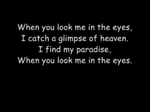 Jonas Brothers When You Look Me In The Eyes with lyrics
