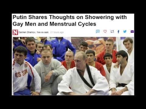 Putin prysznic gej i judo