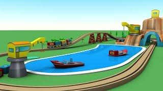 cartoon for children - train cartoon - train for kids - Transportation names  - Kids Learning