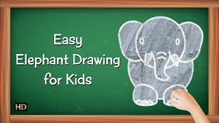 Easy Elephant Drawing for Kids | Kids Learning Video | Shemaroo Kids