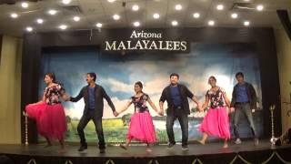 Retro Couple Dance - Arizona Malayalees Onam 2016 Celebrations