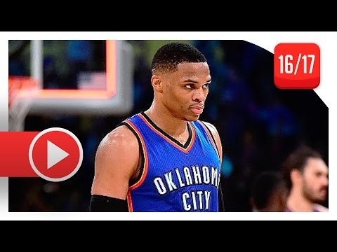 Russell Westbrook Full Highlights vs Lakers (2016.11.22) - 34 Pts, 13 Ast, 8 Reb (OKC Feed)