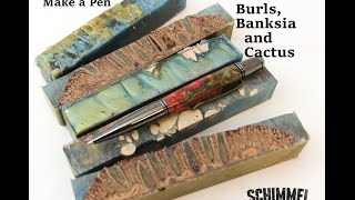 Pen Casting with Resin Banksia and Burl DIY Pen making