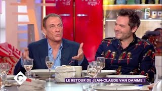 Jean-Claude Van Damme et Matthieu Chedid au dîner - C à Vous - 11/12/2017