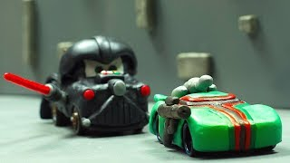 A Galaxy Far, Far Away. STAR CARS Wars Battle Series 1 DARTH MATER Lightning McQueen Jackson Storm
