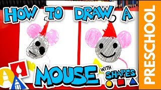 Drawing A Christmas Mouse Using Shapes - Preschool