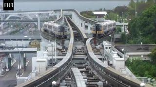 Japan Train changing their tracks in railways l FHD