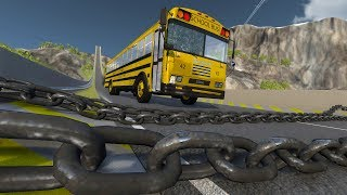 Giant Chain High Speed Crazy Cars Crashes #1 - Beamng Drive