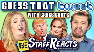 GUESS THAT TWEET CHALLENGE with GROSS SHOTS (ft. FBE Staff)