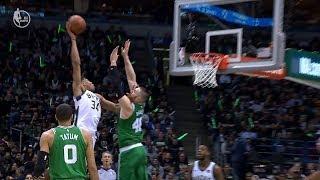 Giannis Antetokounmpo Dunks on Aaron Baynes | Celtics vs Bucks - Game 3 | 2018 NBA Playoffs