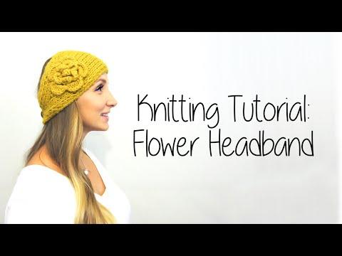 KNITTING TUTORIAL FLOWER HEADBAND Part 1