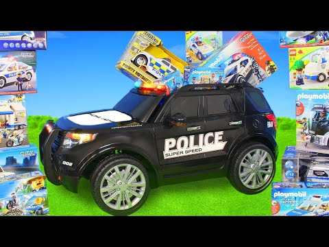 Xxx Mp4 Police Cars Ride On Toy Vehicles W Lego Construction Toys Trucks Car Surprise For Kids 3gp Sex