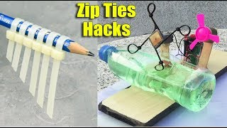 Top 14 Awesome Life Hacks With Zip Ties DIY at Home