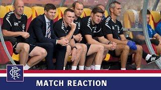 REACTION | Steven Gerrard | FK Shkupi 0-0 Rangers
