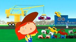 Kids cartoons. Vehicles and car dump.