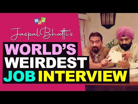 Weirdest job interview conducted by JASPAL BHATTI | Full Tension |