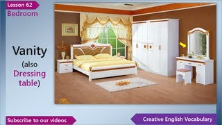 Learn English - English Vocabulary Lesson 62 - Bedroom | Free English Lessons, ESL English Lessons
