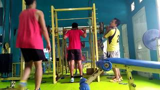 latihan jump spike squat barbel volley ball part II