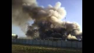 حريق مهول بمصنع في السعودية