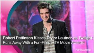 Robert Pattinson Kisses Taylor Lautner & Twilight at the MTV Movie Awards!