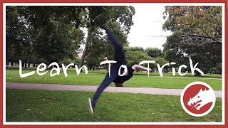 Learn to trick! Butterfly Kick to Combo Aerial tutorial