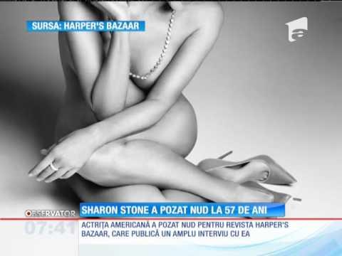 Sharon Stone a pozat nud la 57 de ani
