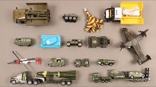Learn Army Vehicles For Kids Children Babies Toddler With Plane Helicopter Tank Van Ambulance Rocket