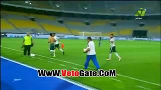 لحظات فرحة لاعبى المصرى بالتأهل لنهائى كأس مصر