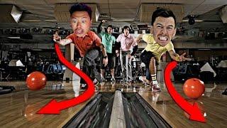 IMPOSSIBLE BOWLING TRICK SHOTS CHALLENGE!!! (DAVIDPARODY VS ITSYEBOI)