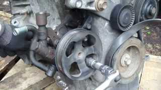 How to replace power steering pump Toyota Corolla VVT-i engine. Years 2000 to 2010.